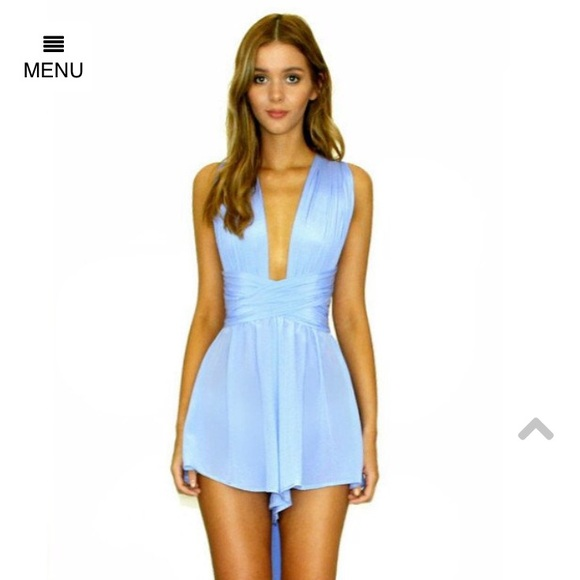 cd9422953b5 Sisters the Label Silk Playsuit in Vienna Sky. M 5a526f4545b30c47ea01880c